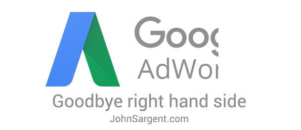 Goodbye Google Right Hand Side Ads