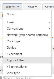Google AdWords Top vs Other Segment